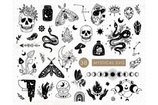 Mystical Witchy Collection SVG Cricut Graphic Illustrations By MySpaceGarden