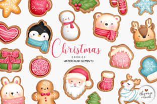 Print on Demand: Watercolor Christmas Cookies Clipart Graphic Illustrations By Chonnieartwork 1