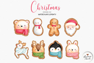 Print on Demand: Watercolor Christmas Cookies Clipart Graphic Illustrations By Chonnieartwork 2