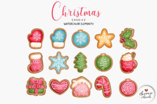 Print on Demand: Watercolor Christmas Cookies Clipart Graphic Illustrations By Chonnieartwork 3