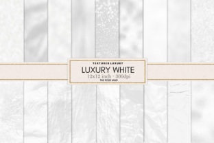 Print on Demand: White Texture Seamless Graphic Backgrounds By The Rose Mind