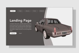 Print on Demand: Style Classic Car Landing Page Graphic Landing Page Templates By inferno.studio3