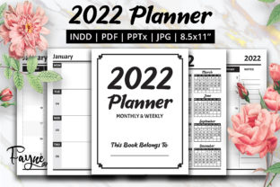 Print on Demand: 2022 Planner Monthly & Weekly KDP Graphic KDP Interiors By Fayne