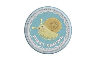 Baby Milestone First Crawl Babies & Kids Quotes Embroidery Design By Embroidery Designs