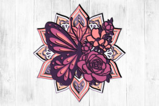 Print on Demand: Butterfly 3D Layered Graphic 3D SVG By LightBoxGoodMan