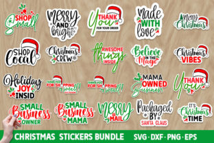 Print on Demand: Christmas Small Business Stickers SVG Graphic Crafts By Designdealy