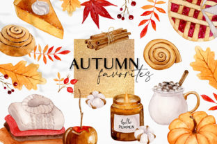 Cozy Autumn Favorites Clipart Mix&Match Graphic Illustrations By SipkaDesigns
