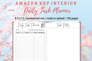 Print on Demand: Daily Task Planner KDP Interior PDF Graphic KDP Interiors By allaboutkdp