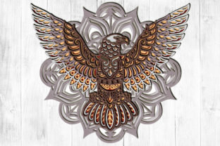 Print on Demand: Eagle 3D Layered Graphic 3D SVG By LightBoxGoodMan