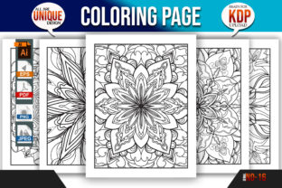 Print on Demand: Flower Coloring Book Page Bundle Kdp Graphic Coloring Pages & Books Adults By Mishukhatun
