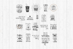 Print on Demand: Funny Coffee Quotes Graphic 3D SVG By LightBoxGoodMan