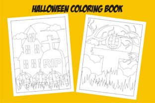 Print on Demand: Halloween Coloring Book KDP Interior Graphic KDP Interiors By edywiyonopp