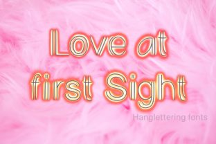 Print on Demand: Love at First Sight Display Font By PeamCreations