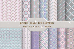 Pastel Seamless Pattern with Shape Graphic Backgrounds By DifferPP