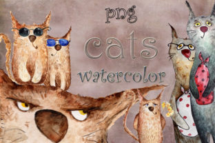 Street Cats Collection of Drawings Graphic Web Templates By WatercolorСreatures
