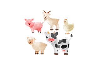 Livestock Watercolors Animals Craft Cut File By Creative Fabrica Crafts