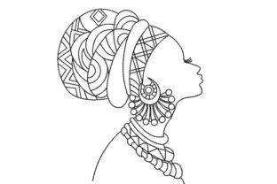 African American Woman Beauty Embroidery Design By Canada Crafts Studio