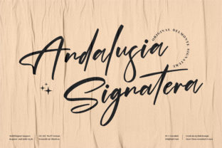 Print on Demand: Andalusia Signatera Script & Handwritten Font By perspectype
