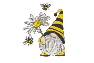 Bee Gnome Fairy Tales Embroidery Design By NinoEmbroidery