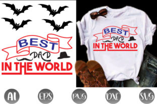 Best Dad in the World Graphic Print Templates By Graphic Art
