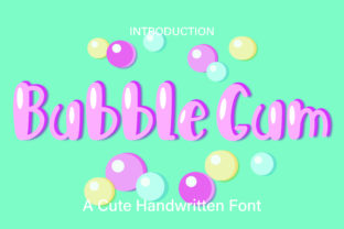 Print on Demand: Bubble Gum Display Font By GoodMoodType