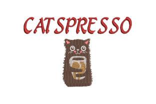 Print on Demand: Catspresso Cats Embroidery Design By Dizzy Embroidery Designs