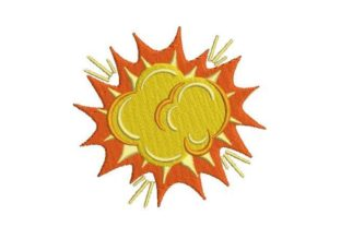 Comic Book Style Explosion Back to School Embroidery Design By Embroidery Designs