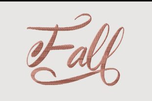 Print on Demand: Fall Lovely Script Autumn Embroidery Design By setiyadissi