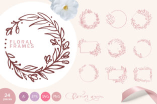 Floral Frames Graphic Objects By Happy Letters