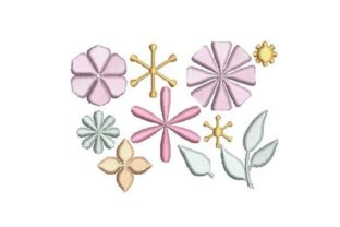 Floral Paper Bouquets & Bunches Embroidery Design By Embroidery Designs