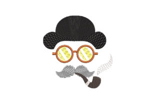 Print on Demand: Gentleman Smoking a Pipe Father Embroidery Design By Dizzy Embroidery Designs