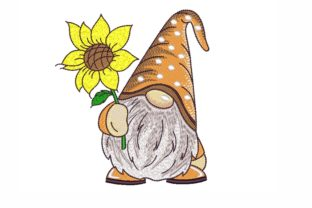 Gnome with a Sunflower Fairy Tales Embroidery Design By NinoEmbroidery