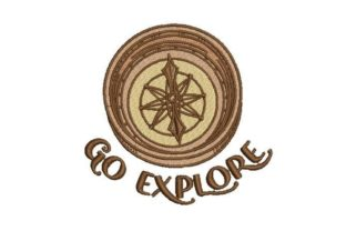 Go Explore Compass Vacation Embroidery Design By Embroidery Designs