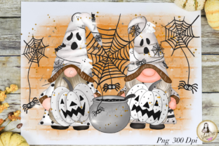 Print on Demand: Halloween Gnomes Cute Sublimation Graphic Illustrations By Suda Digital Art