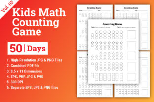 Print on Demand: Kids Math Counting Game 50 Days Graphic Teaching Materials By Creatohub