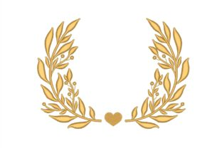 Laurel Floral Wreaths Embroidery Design By NinoEmbroidery