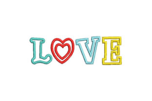 Love Valentine's Day Embroidery Design By Embroiderypacks