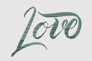 Print on Demand: Love Family Quotes Embroidery Design By setiyadissi