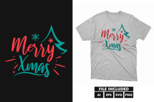 Merry Christmas Day SVG T-shirt Design Graphic Print Templates By hossaingrde