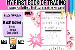 Print on Demand: My First Book of Tracing Vol 4 Gráfico Material educativo Por Funnyarti