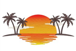 Palm Trees Summer Embroidery Design By NinoEmbroidery