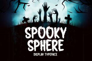 Print on Demand: Spooky Sphere Display Font By Seemly Fonts