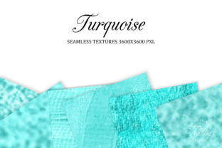 Print on Demand: Turquoise Seamless Textures Graphic Backgrounds By The Rose Mind 2