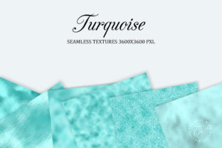 Print on Demand: Turquoise Seamless Textures Graphic Backgrounds By The Rose Mind 3
