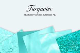Print on Demand: Turquoise Seamless Textures Graphic Backgrounds By The Rose Mind 4