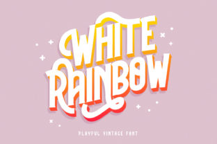 Print on Demand: White Rainbow Display Font By Helotype