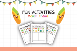 Worksheet Beach Categorize for Kids Graphic K By materialforkidsid