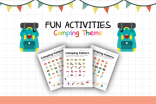 Worksheet Camping Pattern for Kids Graphic K By materialforkidsid