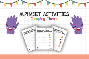 Worksheet Camping Read for Kids Graphic K By materialforkidsid