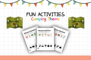 Worksheet Camping Whose Shadow for Kids Graphic K By materialforkidsid
